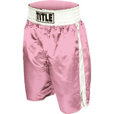 Title Professional Boxing Trunks - Large - Pink/White