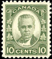 Mint Canada 10c 1931 F-VF Scott #190 Cartier Issue Never Hinged