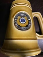 "Vtg Lawrence University 6"" Beer Mug Stein 16oz"