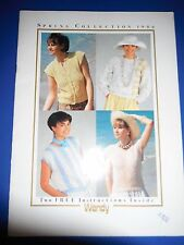 Wendy Spring Collection 1986 Knitting Pattern Book 2 designs