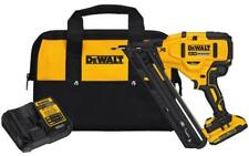 NEW DEWALT DCN650D1 20V MAX CORDLESS 15GA 35 DEG ANGLED FINISH NAILER KIT SALE