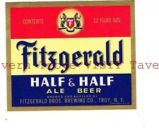 Fitzgerald's Half & Half ©1949 12oz IRTP Fitzgerald Bros Brewing Co Troy NY