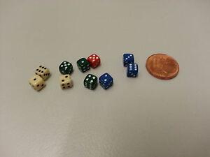 10 Miniwürfel Ca. 4,5 mm * 4,5 mm Mini Würfel Dice Farben zufällig sortiert NEU