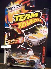 HOT WHEELS 2012 #21 TEAM HW TOP RIDES NIGHT BURNER SLVR RED DRIVER