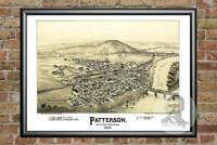 Old Map of Patterson, PA from 1895 - Vintage Pennsylvania Art, Historic Decor