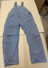1940s 1950's Lee Overalls Long L Hickory Stripe Button Fly Union Made Sanforized