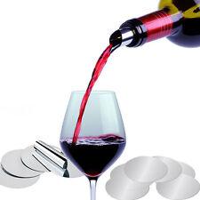 5× Wine Disk Pourer Stopper Stop Drop Reusable Spout Disc Whisky Liquor D ttgg