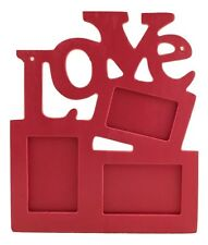 RED LOVE PHOTO FRAME  - Magnet Attached - Free Shipping -