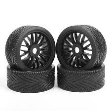 4Pcs 1:8 Buggy Tires&Wheel Rim 17mm Hex For HPI HSP Traxxas Off Road RC Car