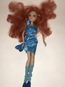 WINX CLUB 2012 Viacom Rainbow BLOOM DOLL Blue Dress Socks Shoes No Wings