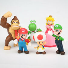 6 Pcs - Super Mario Bro. & Friends Figures Cake Topper Birthday Party Favor Toy