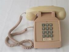 Vintage ITT Beige Tan Push Button Desk Telephone