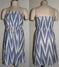 GAP STRAPLESS SUNDRESS  Cotton Cover Up white Blue size XS