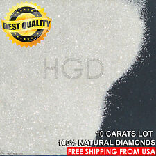 100% NATURAL Diamonds Powder/Dust TOP QUALITY White Sparkle raw uncut 10 cts lot