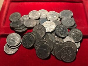 50x CLEAN 1966 QUEEN ELIZABETH II SIXPENCES for THIS YEARS 55th Birthday