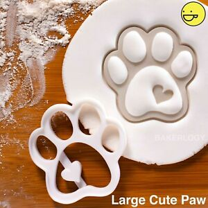 Cute Paw cookie cutter | dog foot prints birthday treats paws puppy biscuits diy
