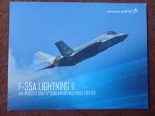 2017 DOCUMENT PUB LOCKHEED MARTIN F-35A LIGHTNING II AERIAL DEMONSTRATION