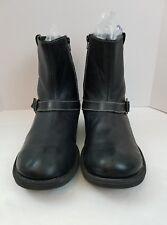 Men's Shoes Steve Madden Leather P Rocker Black Ankle Boots Mens SZ 13 Zip Up