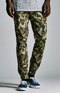 MEN'S GUYS Bullhead Denim Co. Slouched Skinny Khaki Camo Jogger Pants NEW $55
