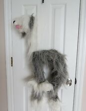 "Marionette 44""H - Dog Style White and Gray Marionette"