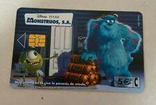 SPAIN Phonecards - 5€ Disney Pixar monsters Inc