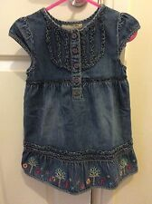 Girls ROCHA JOHN ROCHA Denim Dress Age 12-18 Months