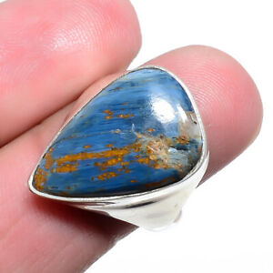 Namibean Pietersite Handmade Gemstone 925 Sterling Silver Ring s.8 M1560