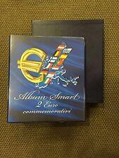 ABAFIL ALBUM SMART x 2 euro Commemorativi RACCOGLITORE + FOGLI dal 2004 al 2017