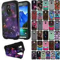 For Samsung Galaxy S5 ACTIVE G870A Hybrid Hard Silicone Dual Layer Cover Case