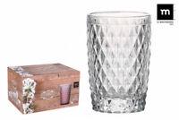 6X SIDARI CLEAR Vintage HIGHBALL drinking glasses cocktail 370ml  gift box