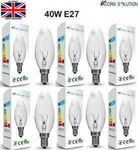 C35 Clear Candle Light Edition Screw ES E14 Lamp Bulbs 40W 40 Watt