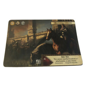 A Game Of Thrones 2.0 LCG Marching Orders Promo Card