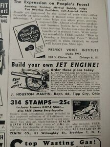 JUNE 1954 MAGAZINE PAGE #PS54-02- BUILD YOUR OWN JET POWERED BICYCLE