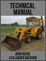 John Deere  410 Backhoe Loader Technical Manual TM1037 On USB Drive