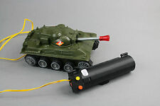 V724 Ancien jouet vintage char tank filoguidé TF 56 made in hong kong 16 cm