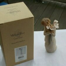 "Rare Vintage 5.25"" Willow Tree Figurine Beautiful Wishes Demdaco & Original Box"