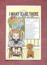 Music Lyrics Song I Want To Be There Little Boy & Dog ©1915 Leo Feist