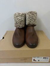 "UGG Australia Women's 100% Leather Flat (less than 0.5"") Boots"