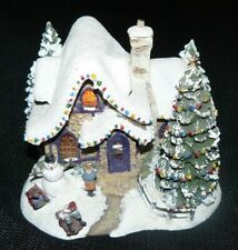Thomas Kinkade Stillwater Cottage Teleflora Collectable House Lights Up