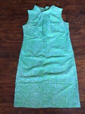 VTG 60s 70s Sleeveless Thin Sheer Groovy Mod Go Go Short Sheath Mini Dress XL