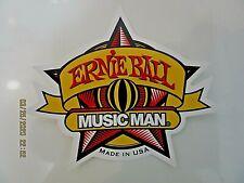 ERNIE BALL MUSICMAN GUITAR DECAL CASE RACK BUMPER STICKER NICE NEW VERY RARE