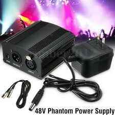 48V Phantom Power Supply Cable with Adapter for Condenser Microphone US plug