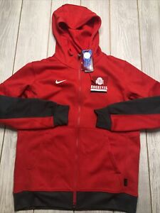 New Nike Mens Ohio State Buckeyes Full Zip Hooded Sweatshirt Shirt Size 3XL