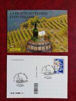 """CARTOLINE """"LA FILATELIA CELEBRA I VINI ITALIANI"""" - ANNULLO SPECIALE 2019"""