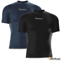 Mens Compression Base Layer Tops Short Sleeve Tight Fit Armour Running Gym Shirt