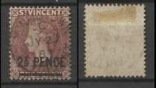 No: 76762 - ST VINCENT - A VERY OLD & INTERESTING STAMP w. OVERPRINT - USED!!