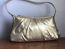 Women's gold evening handbag