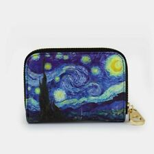Rfid Armored Zipper Wallet Van Gogh The Starry Night Design 11 Pocket Divider