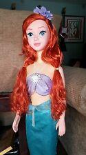 "Little Mermaid My Size Talking Ariel Doll 38"" doll - disney store RARE"