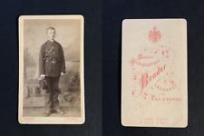 Bruder, Lausanne, Jeune garçon en uniforme, circa 1870 CDV vintage albumen -